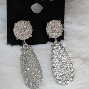 Bebe Statement Lightweight Silver Earrings
